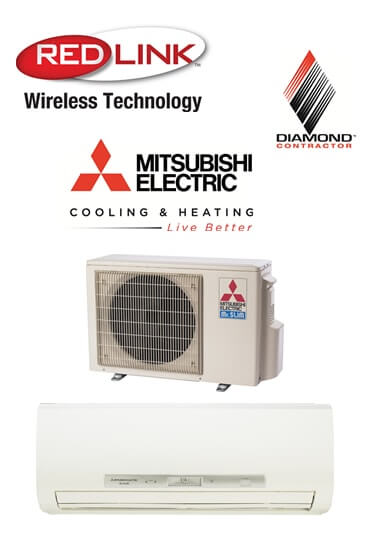 We Recommend Mitsubishi Mini Split Ductless Air Conditioning Systems.  Mitsubishi Is A Pioneer In This Type Of System, ...